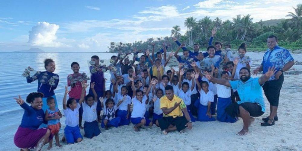 Fiji Day with the kids of Yacata Island, Northern Lau. Photo credit: Photo Credit: Vatuvara Foundation